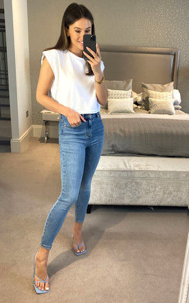 Denim Ankle Jeans in Light Blue by ONLY