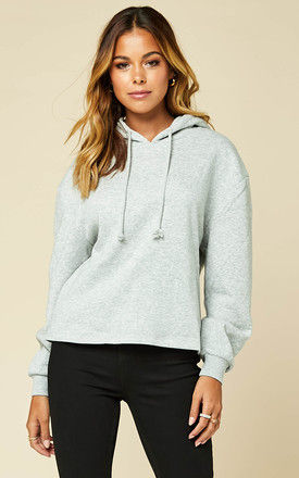 Hoodie in Grey by Pieces