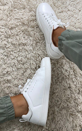 Lace Up Trainers in White by ONLY