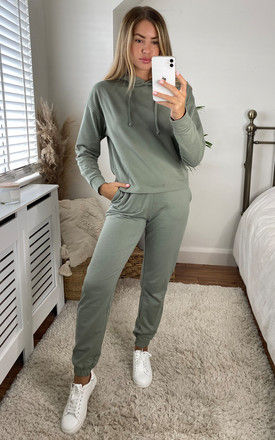 Sweat Pants in Green by ONLY