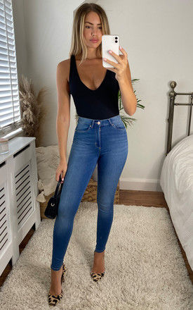 Skinny Jean with High Waist in Blue by ONLY