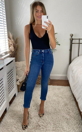 Straight leg jeans with high waist in Medium Blue by ONLY