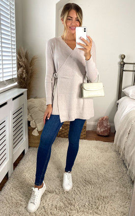 Wrap Cardigan in Cream by Object