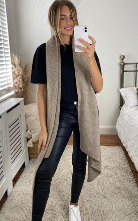 Long scarf in Beige by Pieces