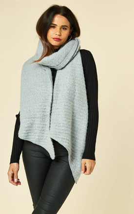 Textured long scarf in grey by Pieces
