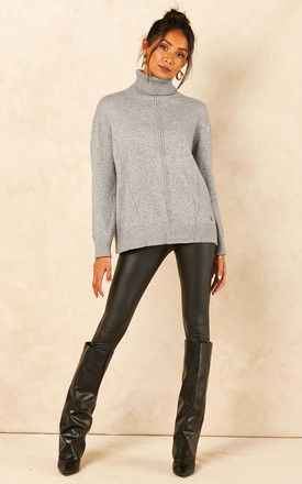 Roll Neck Jumper in Grey by Bella and Blue