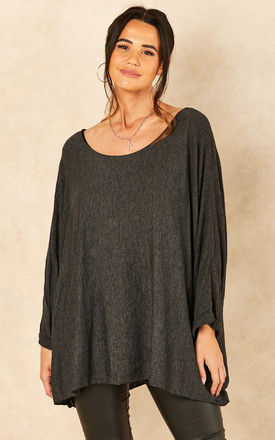 Oversized Top in Dark Grey by Bella and Blue