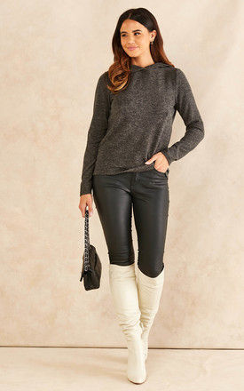 hooded top in Dark Grey by Pieces