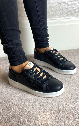 Textured trainers in Black by ONLY