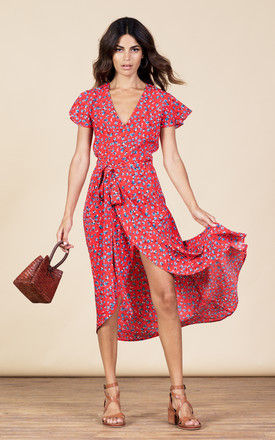 Cayenne Dress in Red Ditzy by Dancing Leopard