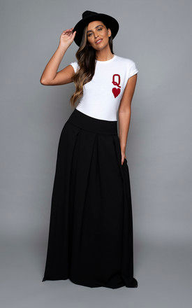 Queen of Hearts T Shirt in White by James Steward