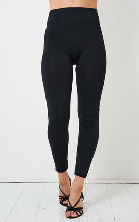 Black High Waist Stretch Leggings by love frontrow