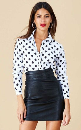 San Diego SHIRT IN WHITE DOT by Dancing Leopard