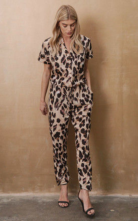 H Jumpsuit Leopard by Never Fully Dressed
