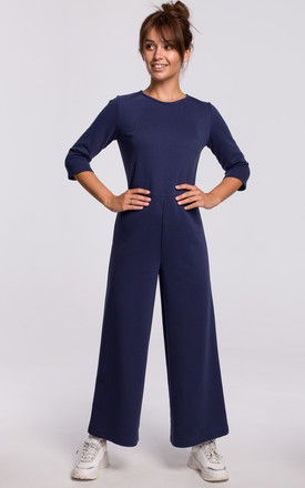 Navy Blue Jumpsuit with Wide Leg by MOE