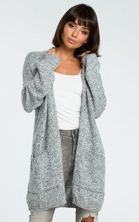 Graphite Long Open Cardigan by MOE