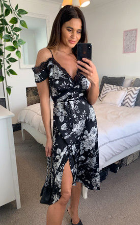 Josephine Floral Burnt Black by Never Fully Dressed